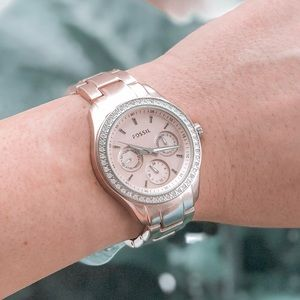 Fossil ES2975 Rose Gold Stainless Steel Watch